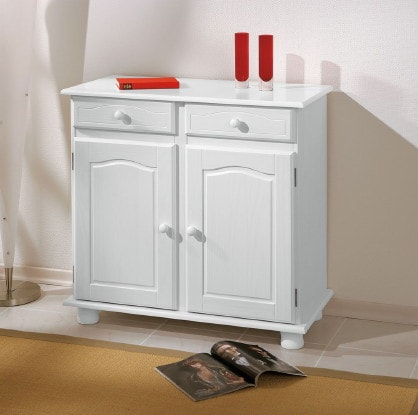 credenza stile country bianca