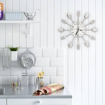 orologio da parete cucina posate