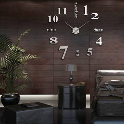 Orologi da parete per salone idee e consigli facehome for Orologi da parete adesivi